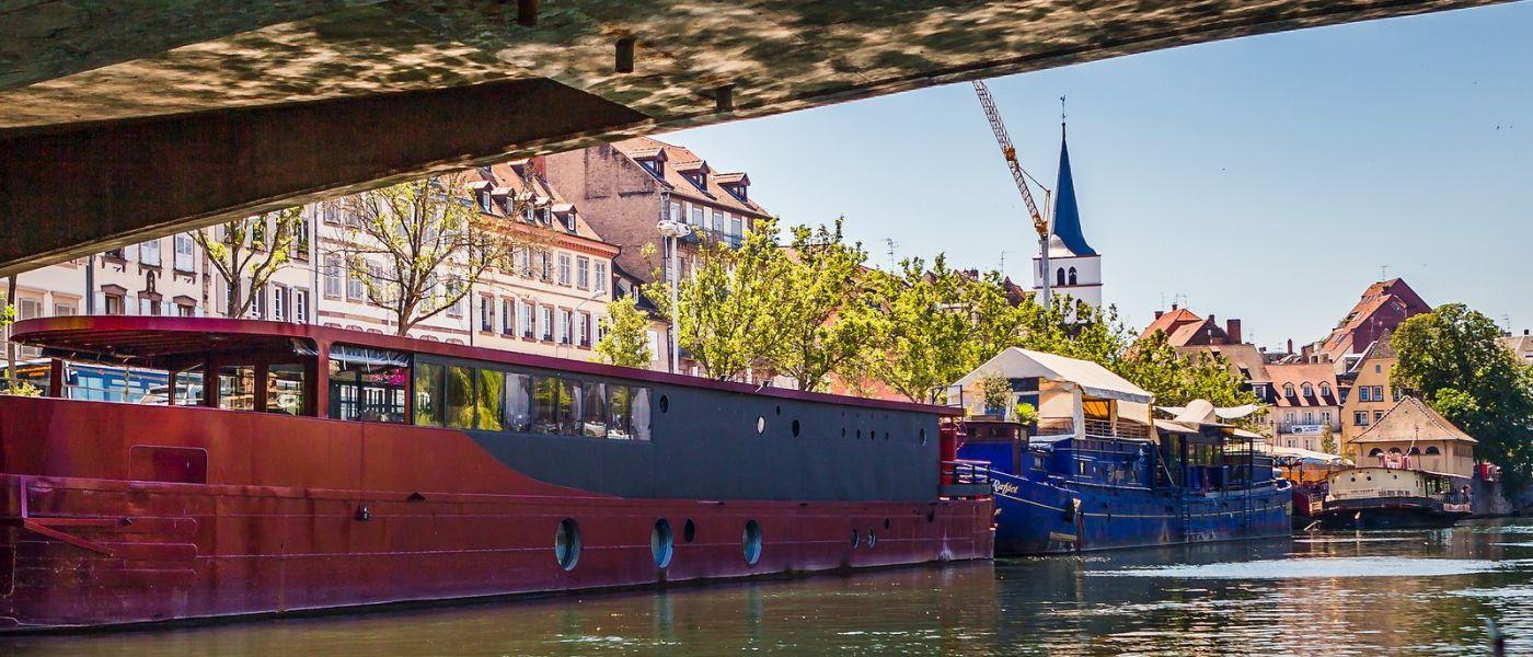 法国斯特拉斯堡(Strasbourg),桥上桥下_图1-4