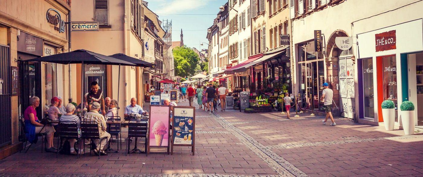 法国斯特拉斯堡(Strasbourg),桥上桥下_图1-1