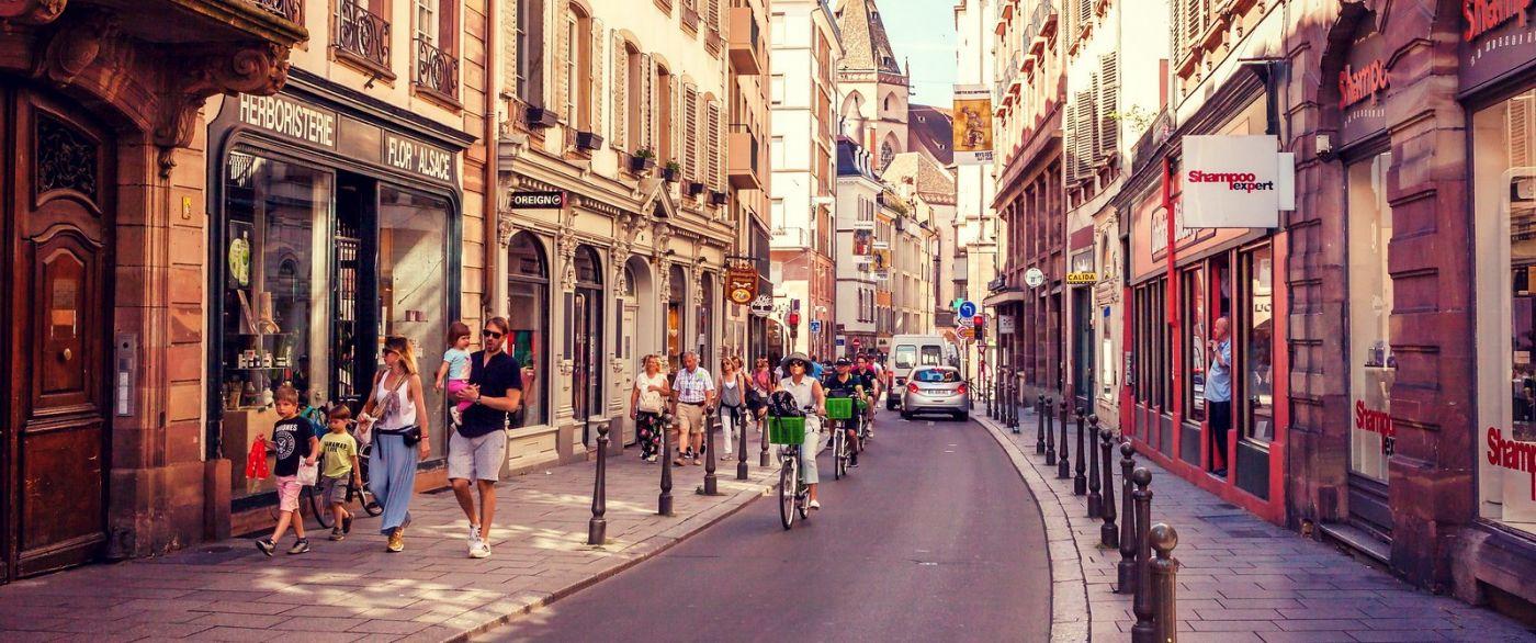 法国斯特拉斯堡(Strasbourg),桥上桥下_图1-12