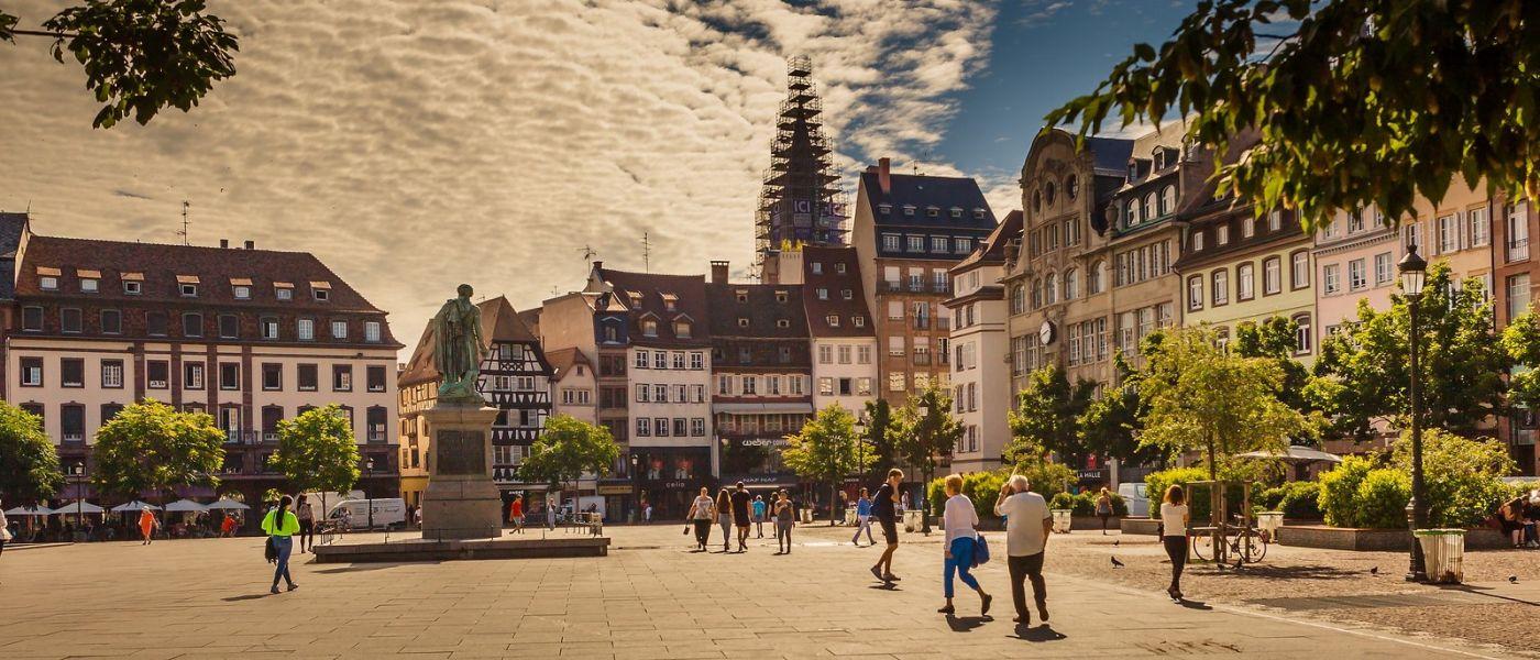 法国斯特拉斯堡(Strasbourg),桥上桥下_图1-17
