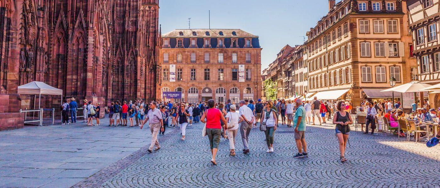 法国斯特拉斯堡(Strasbourg),桥上桥下_图1-38