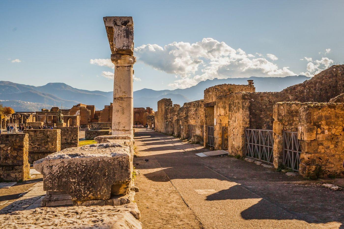 意大利一世纪古城庞贝,那时城市道路_图1-11