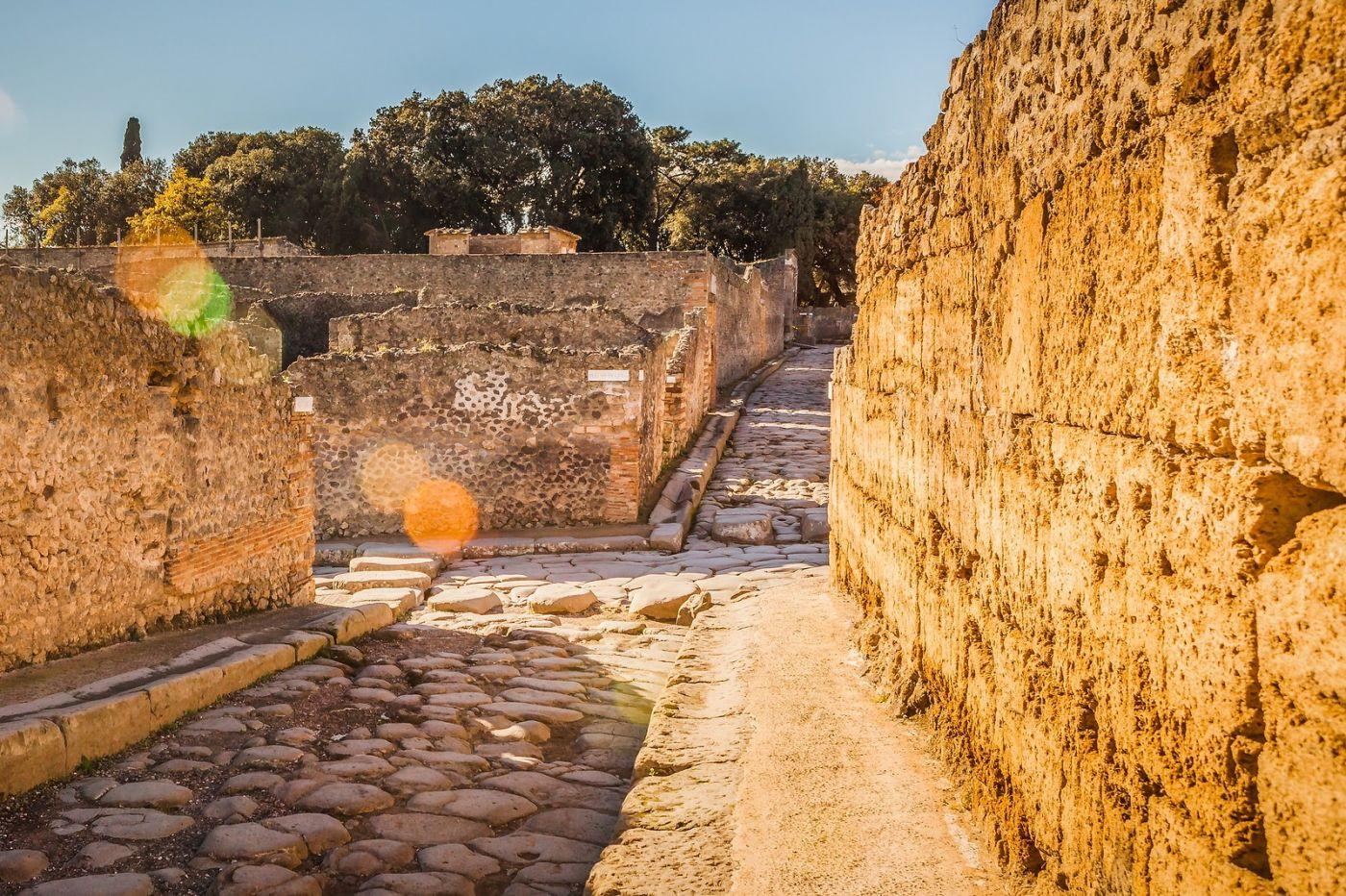 意大利一世纪古城庞贝,那时城市道路_图1-10
