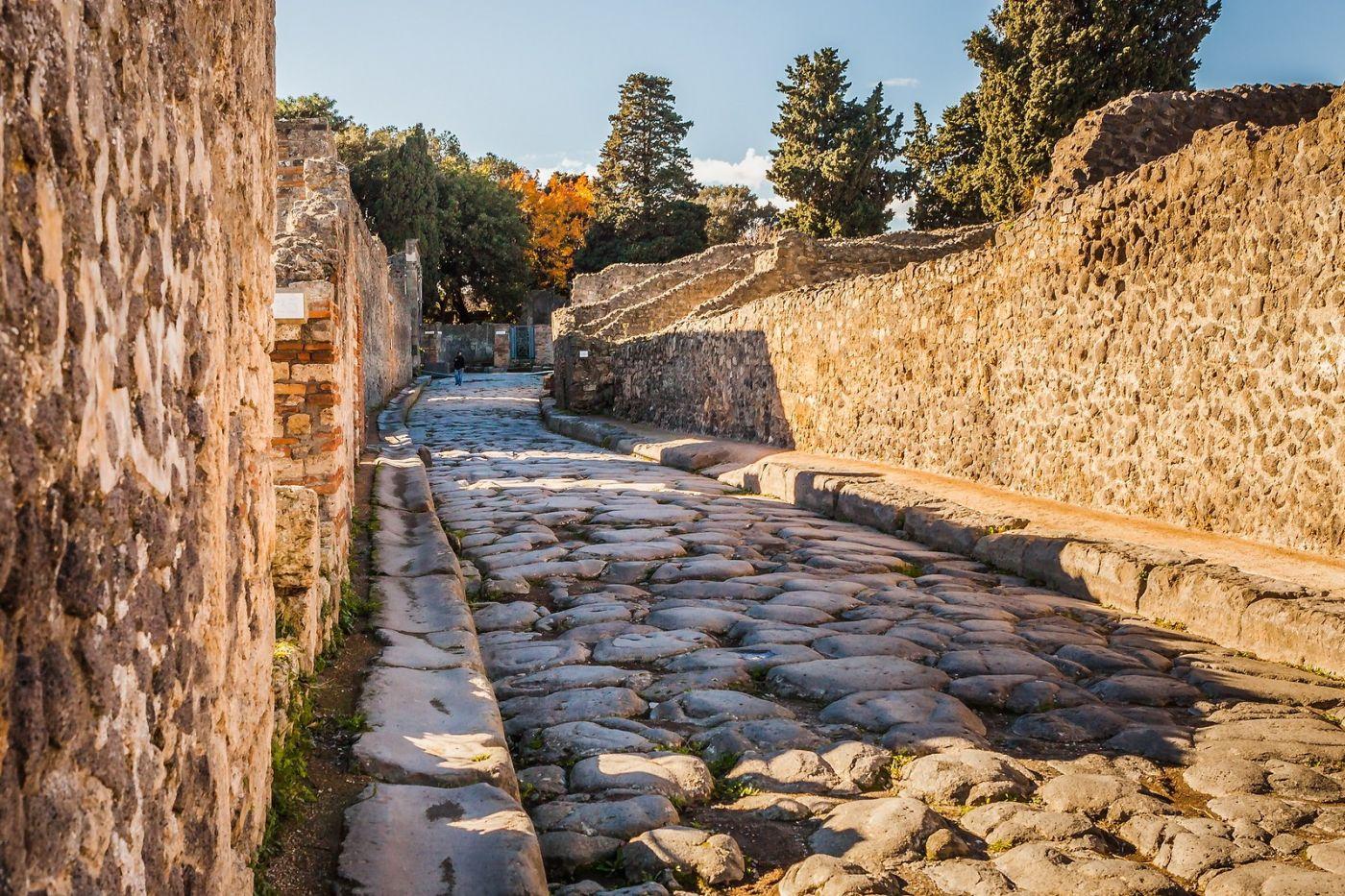意大利一世纪古城庞贝,那时城市道路_图1-9