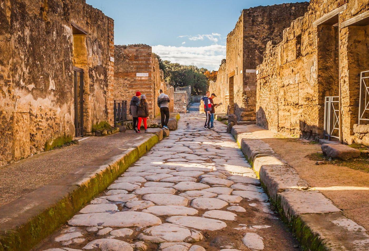 意大利一世纪古城庞贝,那时城市道路_图1-5