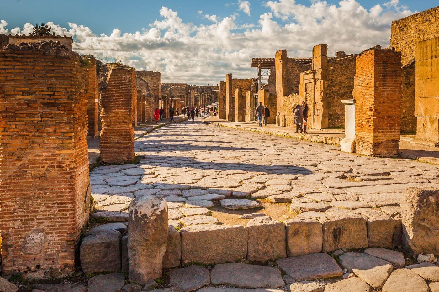 意大利一世纪古城庞贝,那时城市道路_图1-6