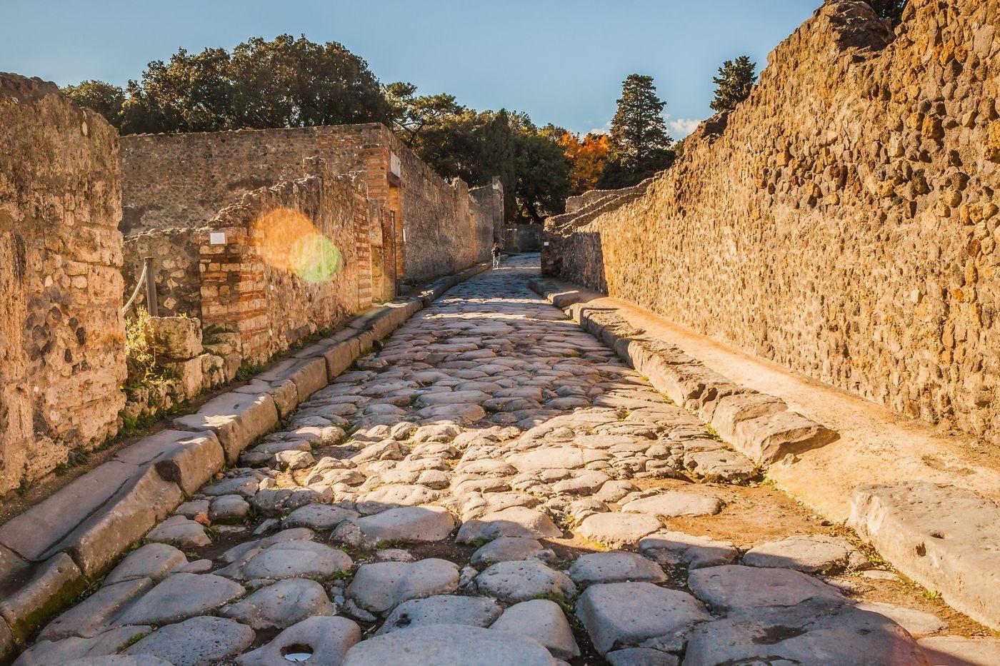 意大利一世纪古城庞贝,那时城市道路_图1-7
