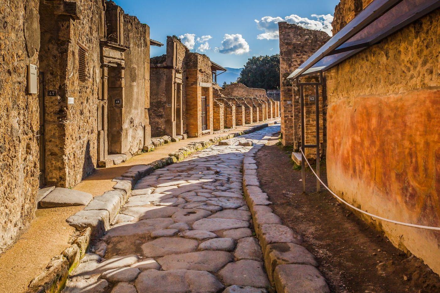 意大利一世纪古城庞贝,那时城市道路_图1-8