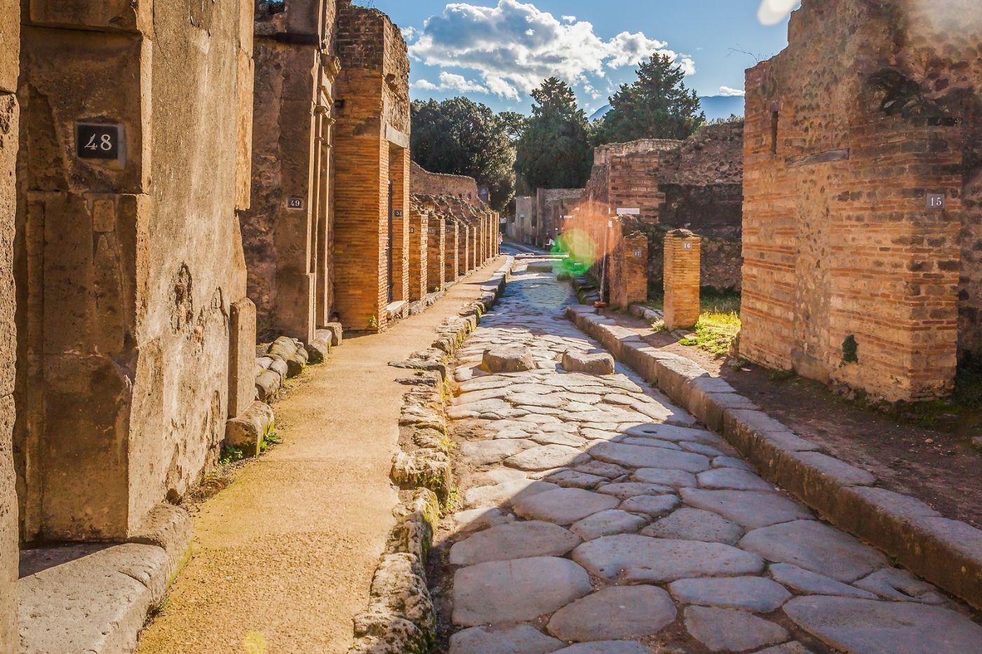 意大利一世纪古城庞贝,那时城市道路_图1-3