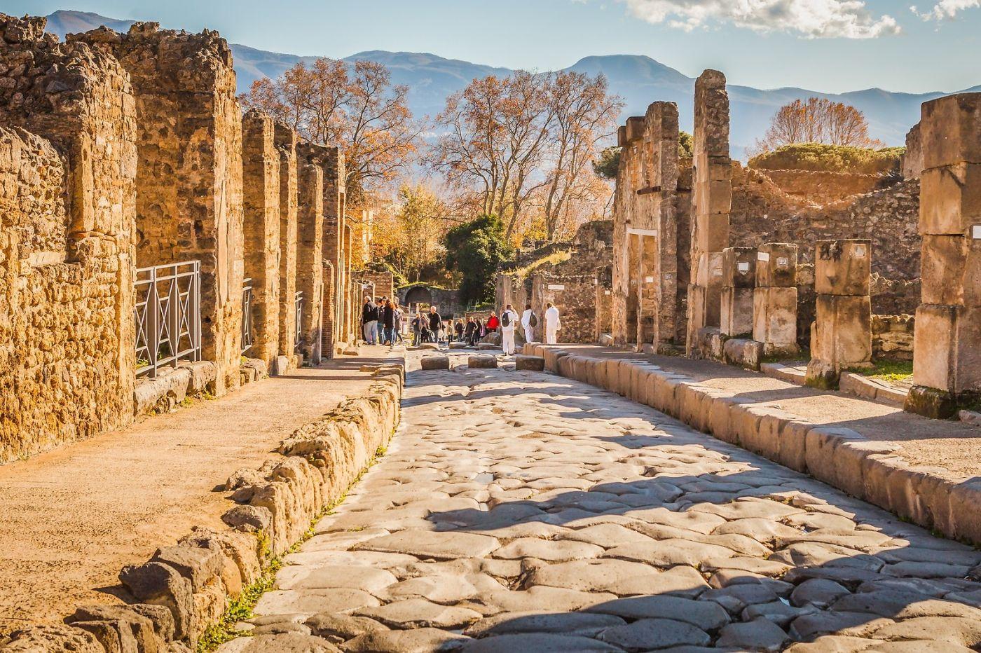 意大利一世纪古城庞贝,那时城市道路_图1-4