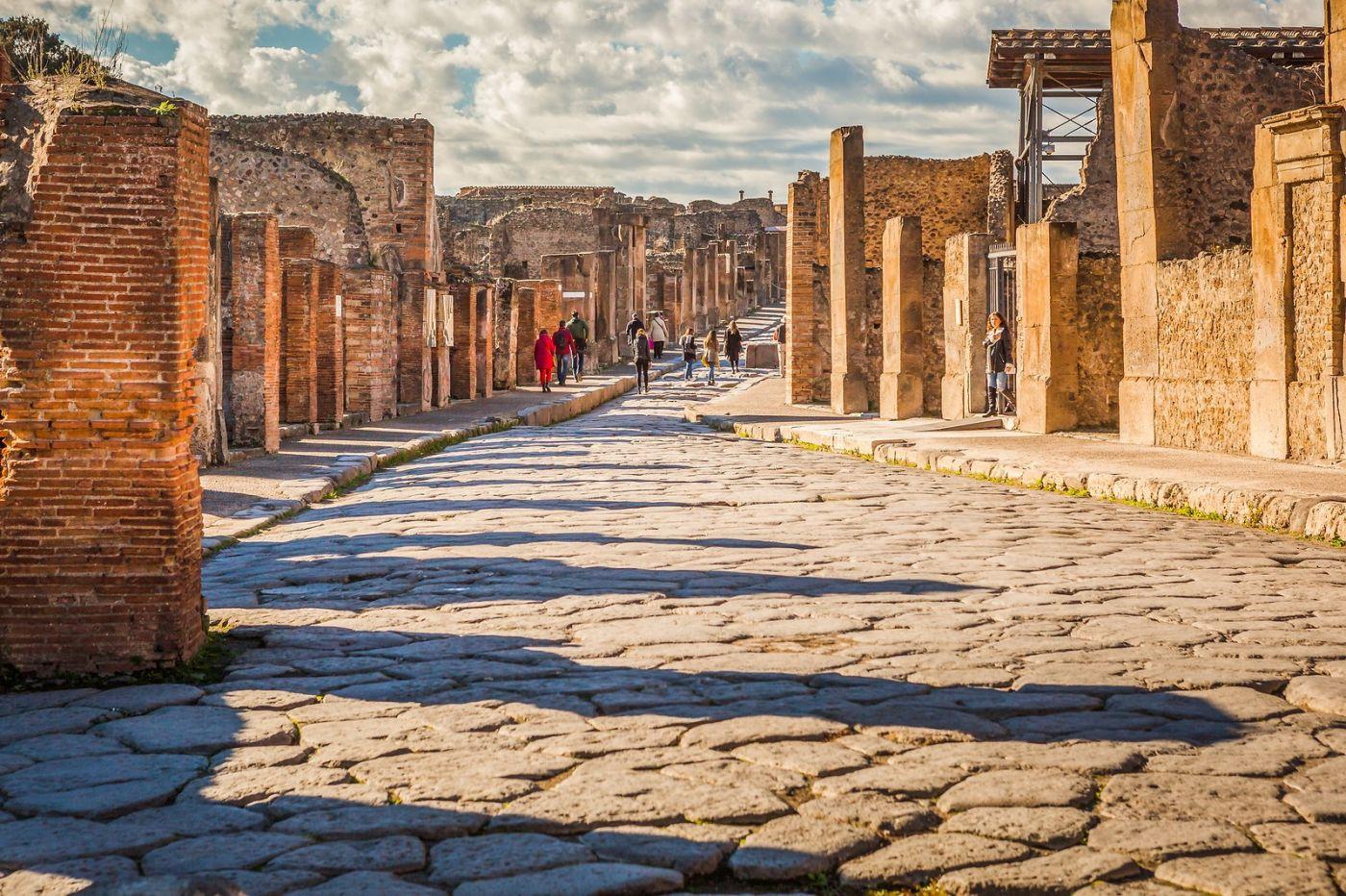 意大利一世纪古城庞贝,那时城市道路_图1-1