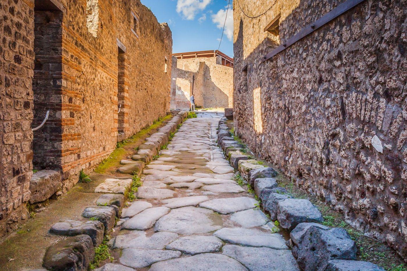 意大利一世纪古城庞贝,那时城市道路_图1-13