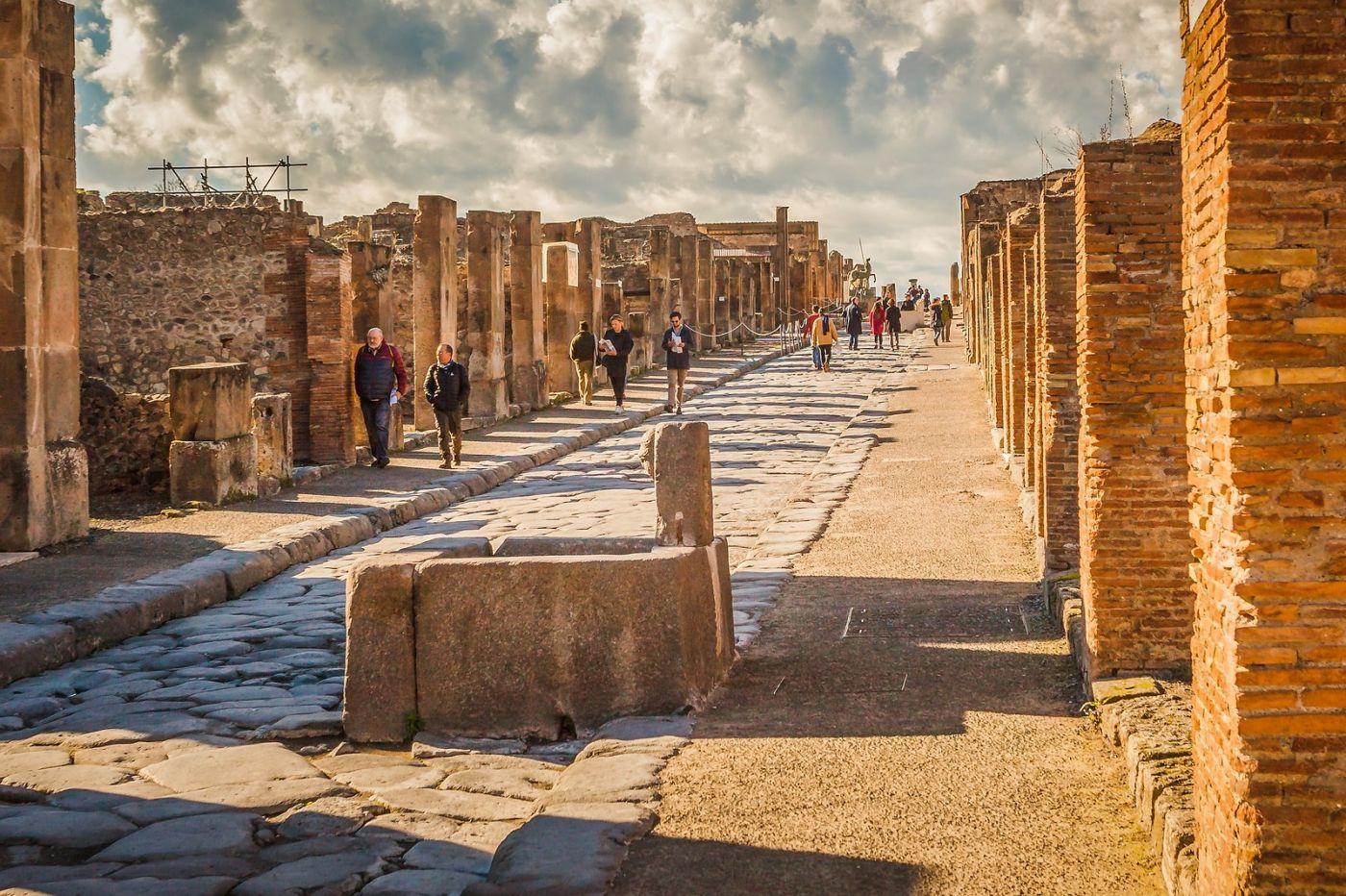 意大利一世纪古城庞贝,那时城市道路_图1-14