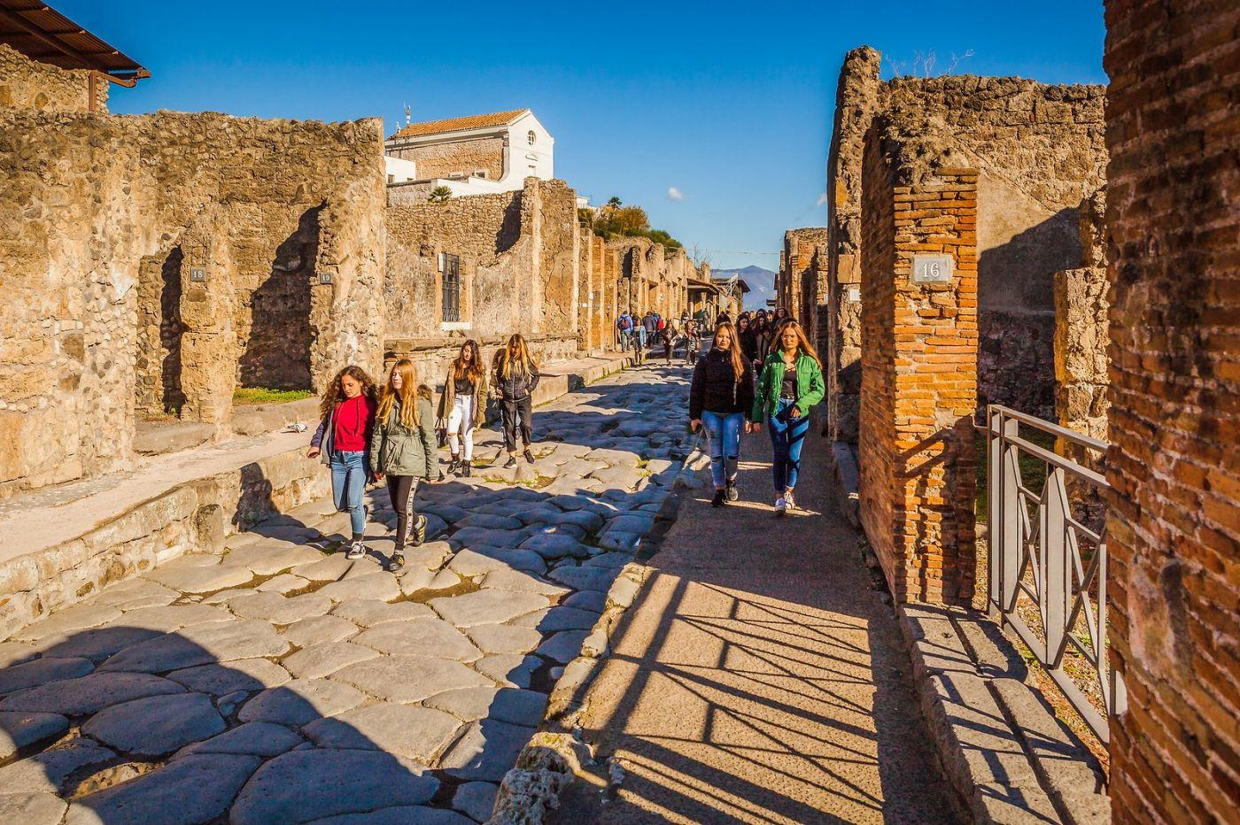 意大利一世纪古城庞贝,那时城市道路_图1-15