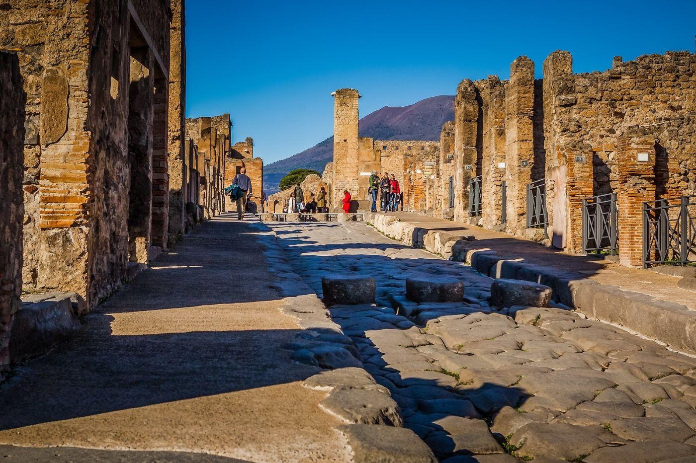 意大利一世纪古城庞贝,那时城市道路_图1-20