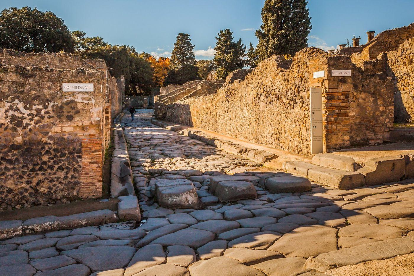 意大利一世纪古城庞贝,那时城市道路_图1-19