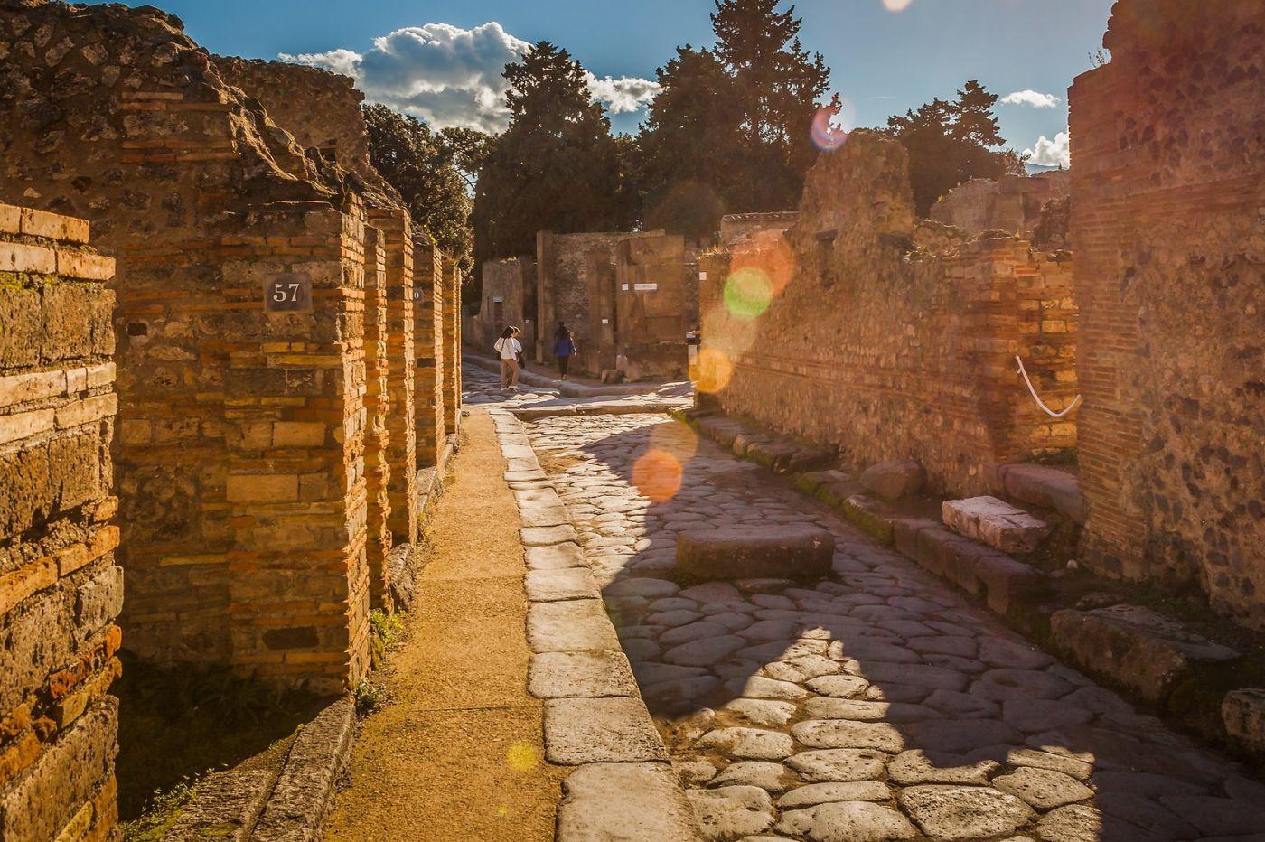 意大利一世纪古城庞贝,那时城市道路_图1-17
