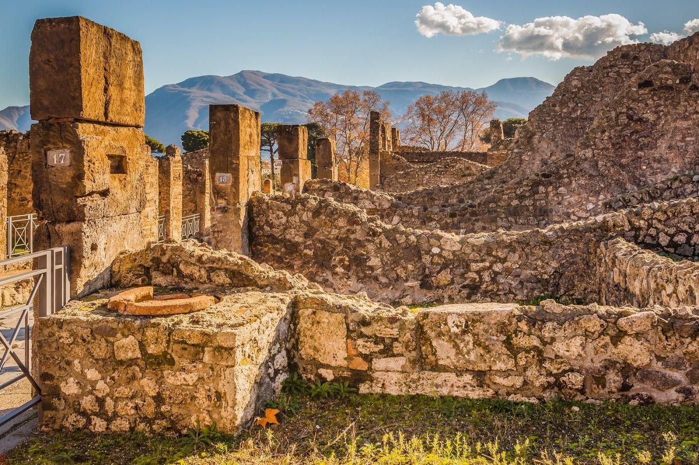 意大利一世纪古城庞贝,那时城市道路_图1-18