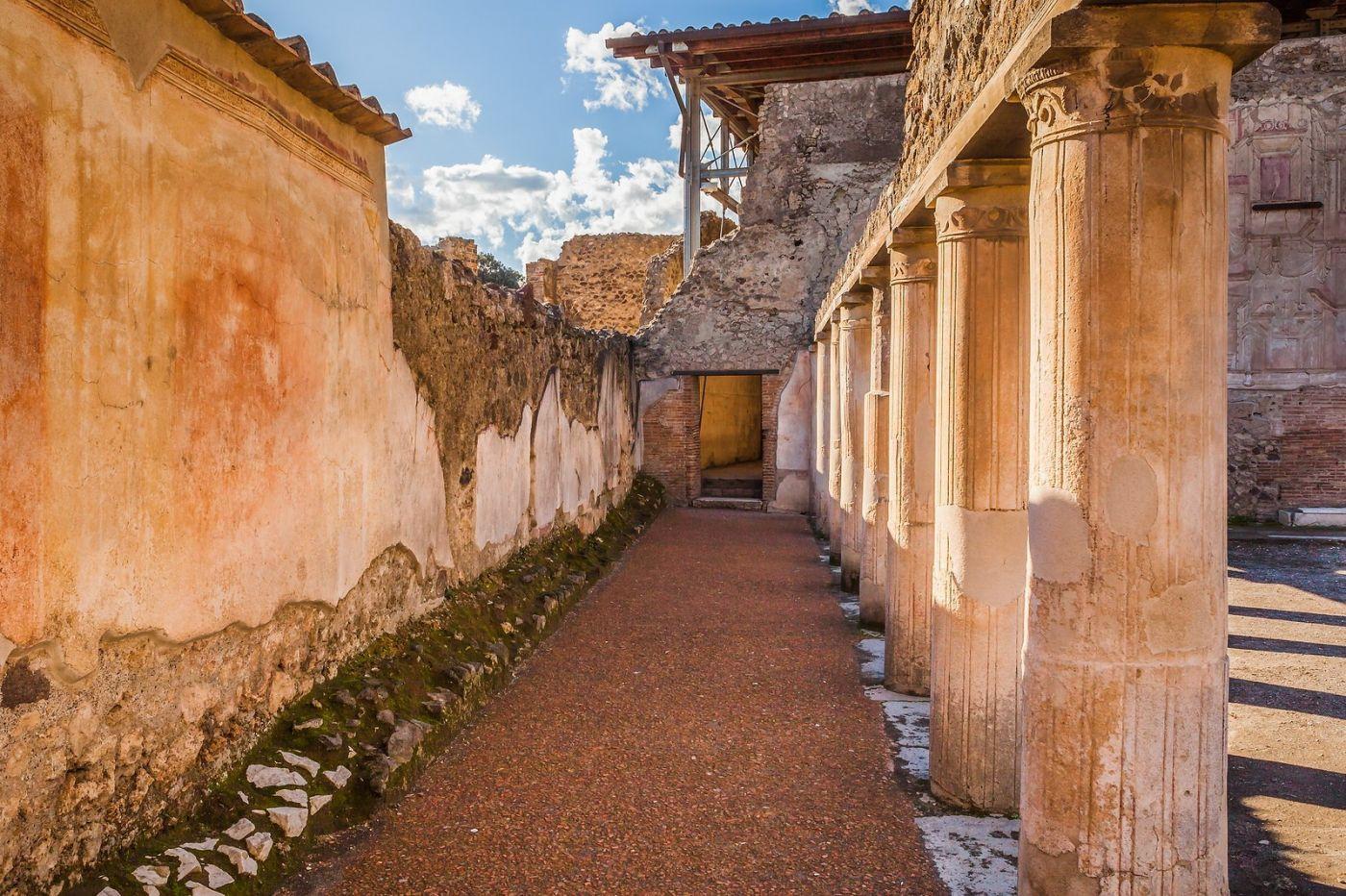 意大利一世纪古城庞贝,那时城市道路_图1-21