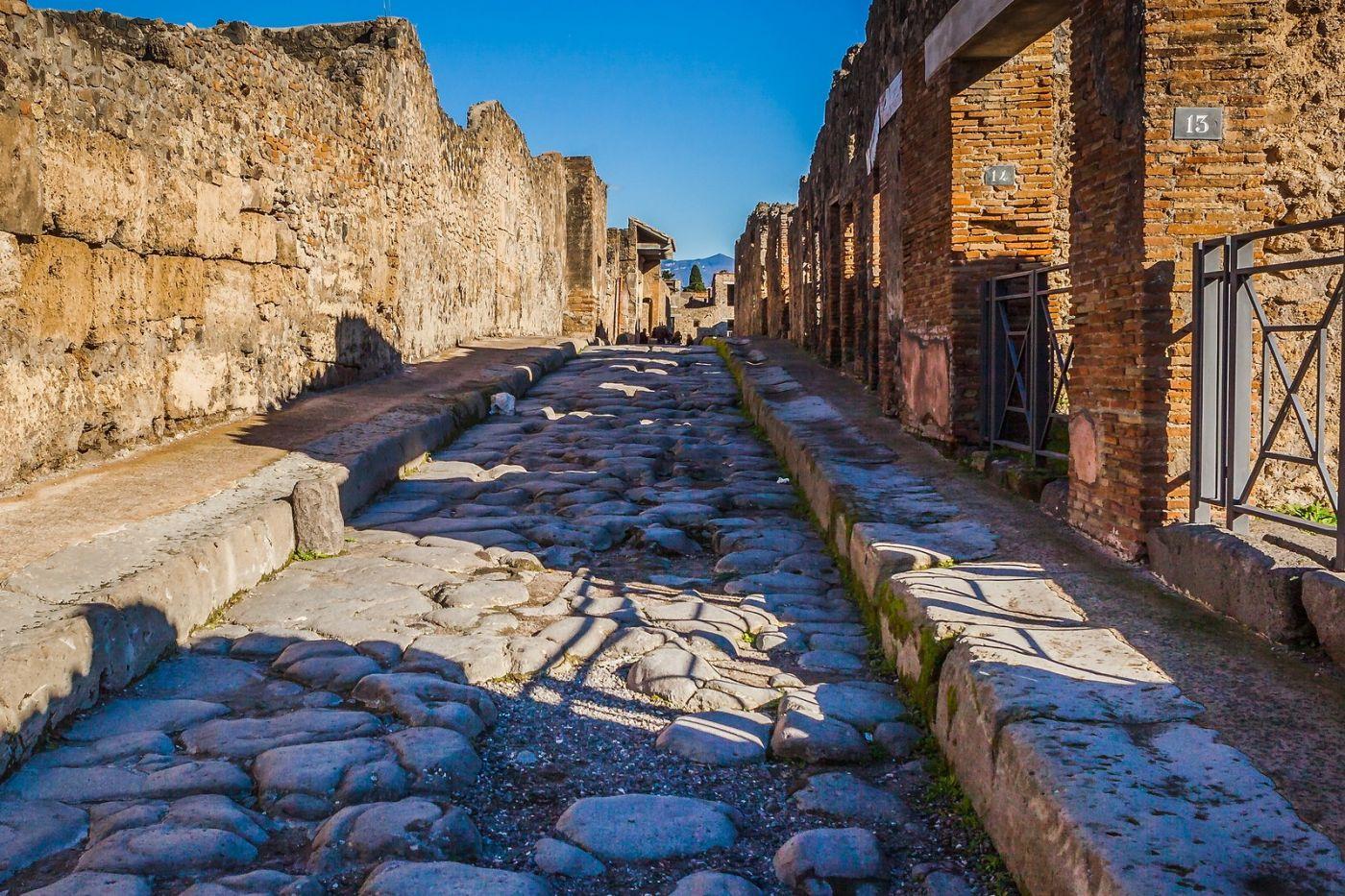 意大利一世纪古城庞贝,那时城市道路_图1-22