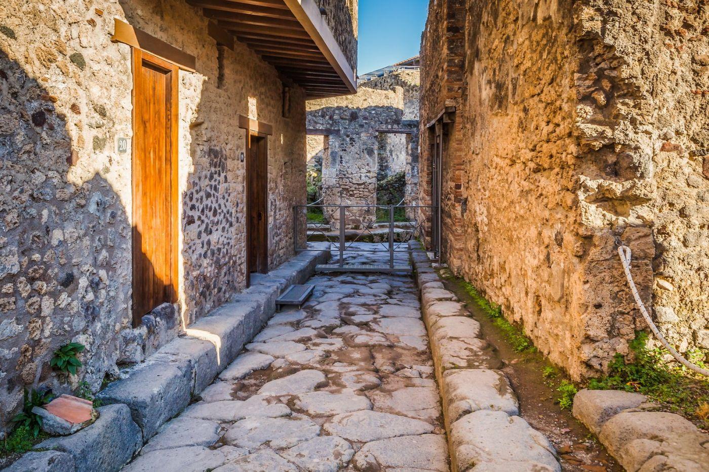 意大利一世纪古城庞贝,那时城市道路_图1-23