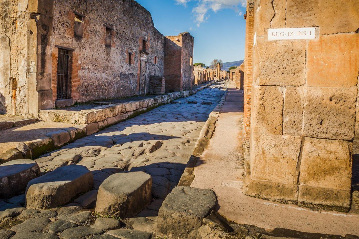 意大利一世纪古城庞贝,那时城市道路_图1-24