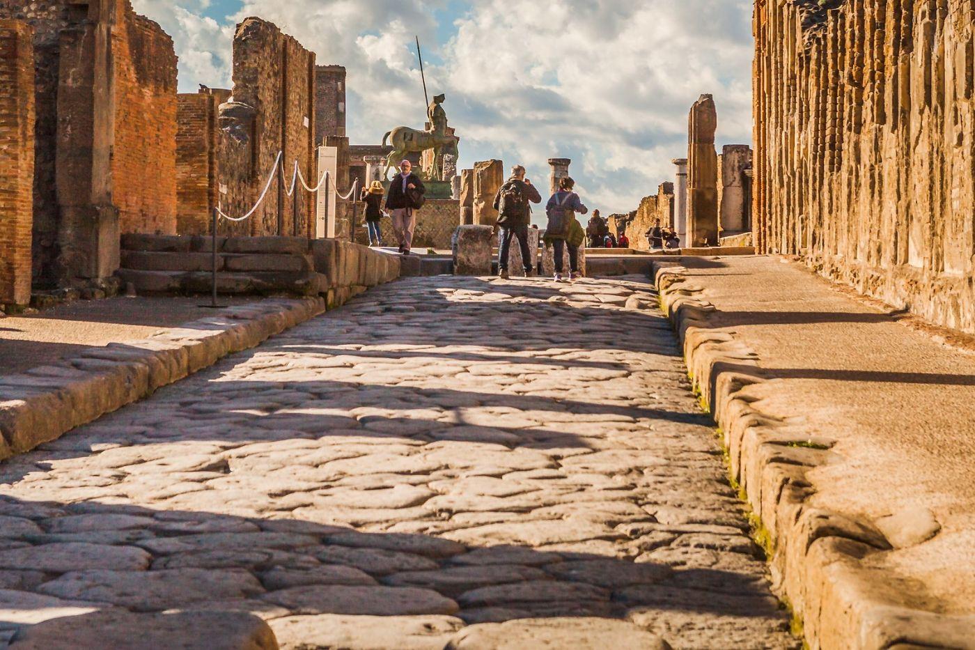 意大利一世纪古城庞贝,那时城市道路_图1-27