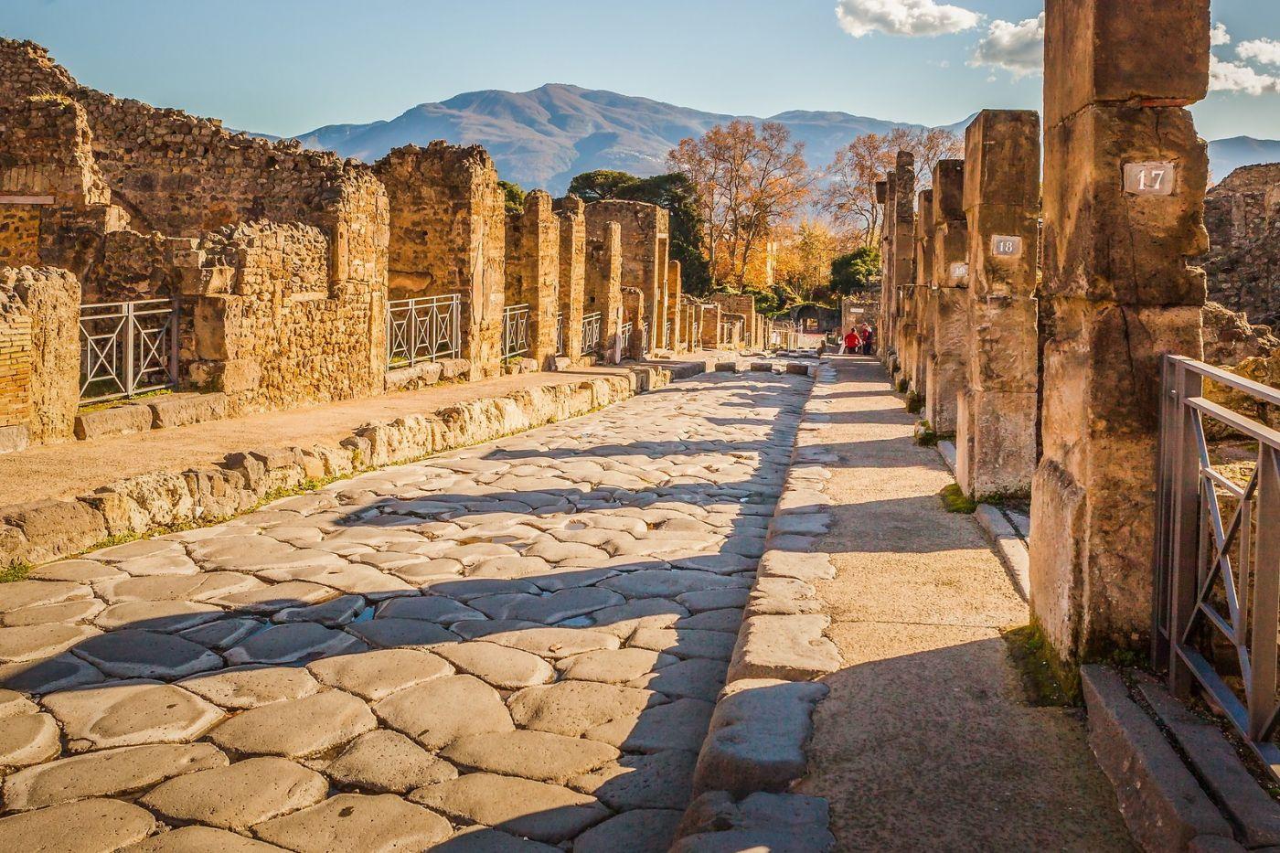 意大利一世纪古城庞贝,那时城市道路_图1-28