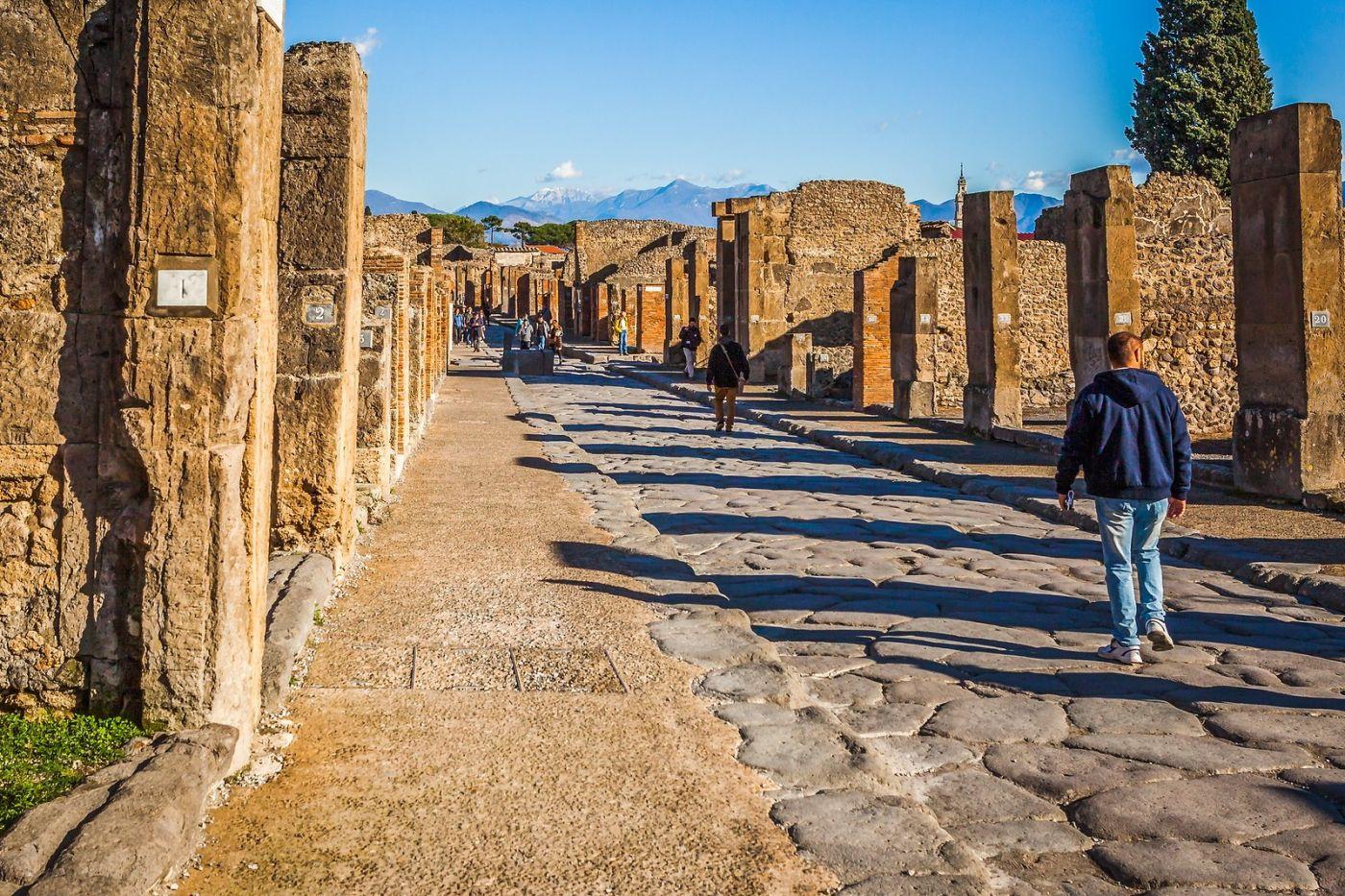 意大利一世纪古城庞贝,那时城市道路_图1-26