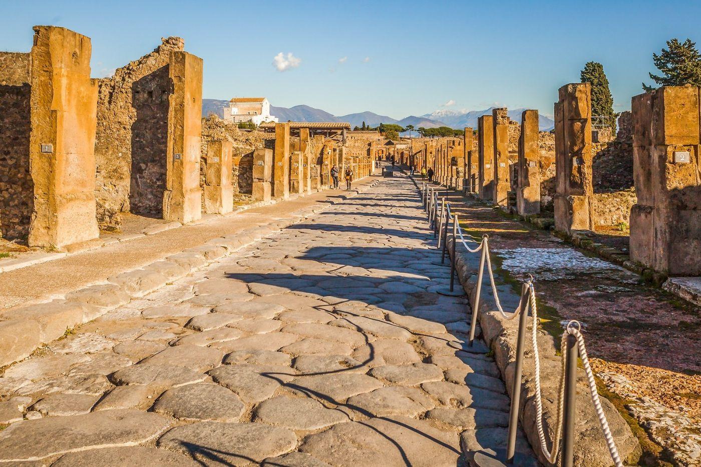 意大利一世纪古城庞贝,那时城市道路_图1-25