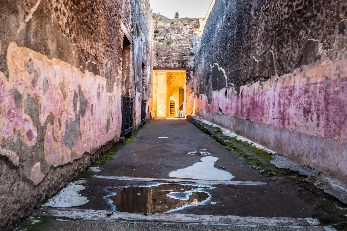 意大利一世纪古城庞贝,那时城市道路_图1-29