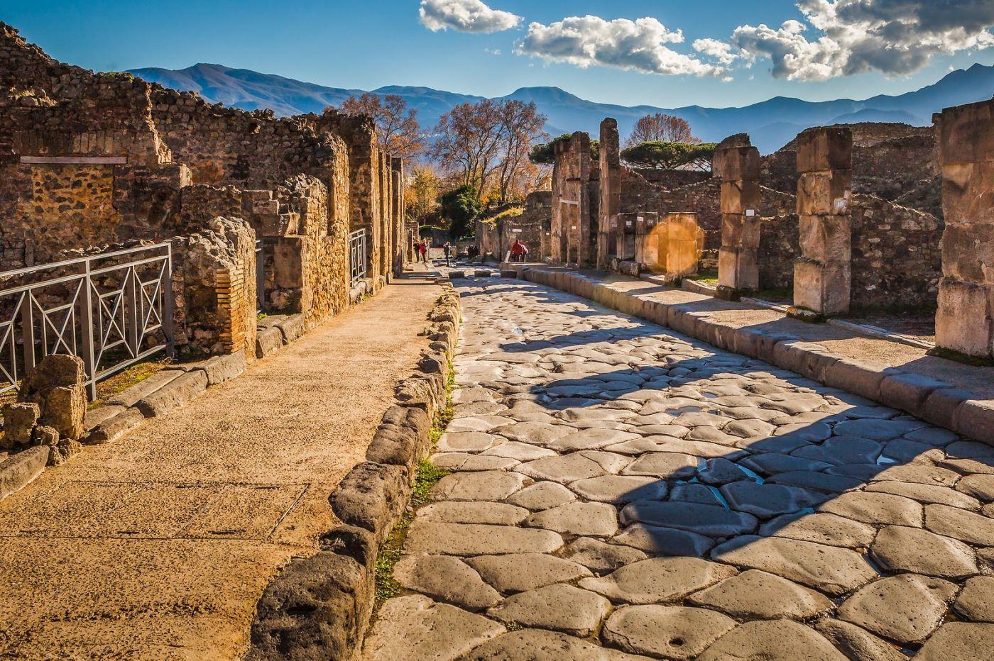 意大利一世纪古城庞贝,那时城市道路_图1-30