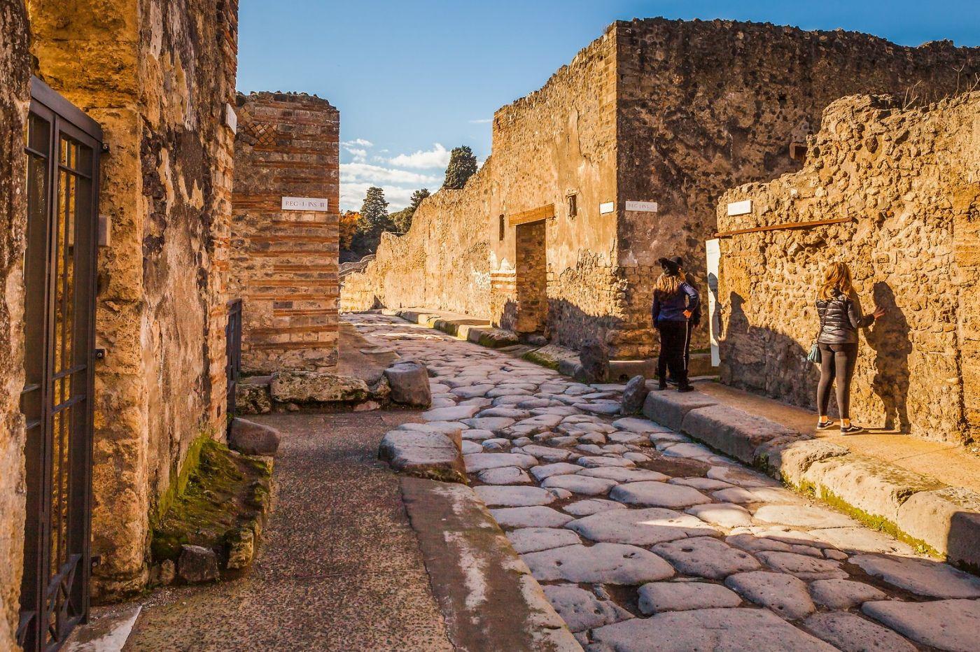 意大利一世纪古城庞贝,那时城市道路_图1-31