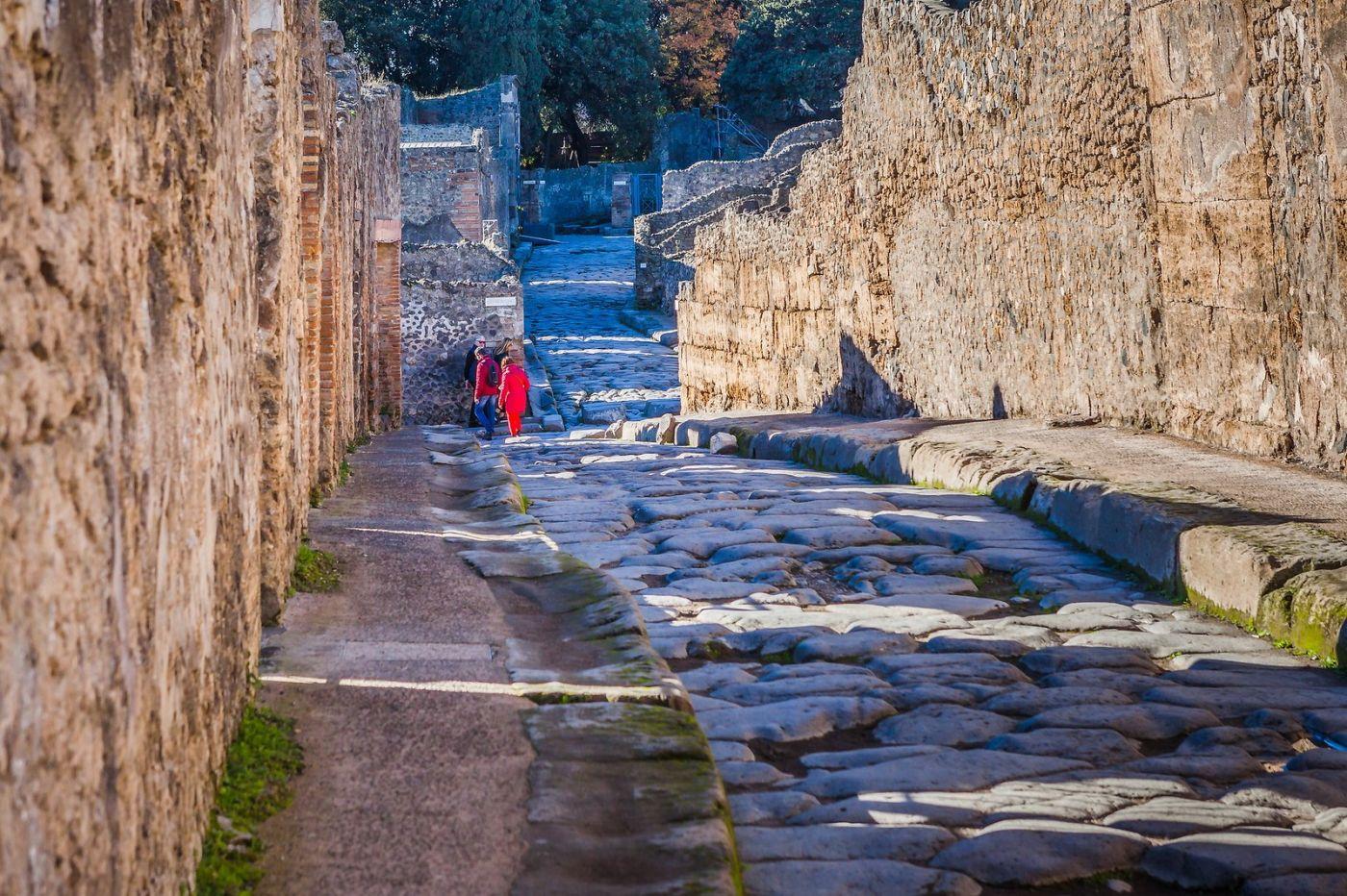 意大利一世纪古城庞贝,那时城市道路_图1-36