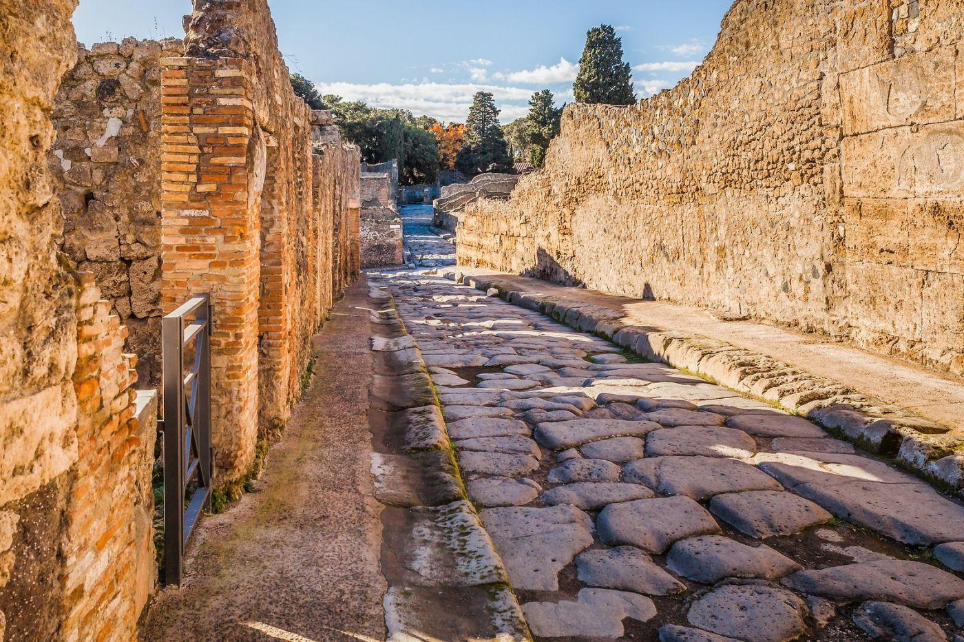 意大利一世纪古城庞贝,那时城市道路_图1-35