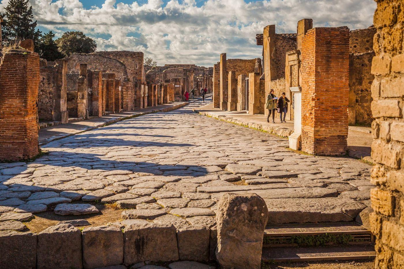 意大利一世纪古城庞贝,那时城市道路_图1-34
