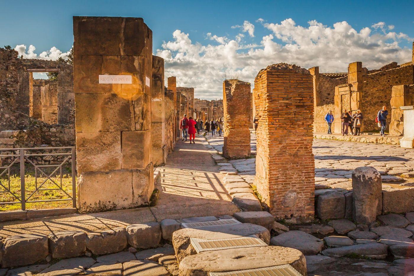 意大利一世纪古城庞贝,那时城市道路_图1-33