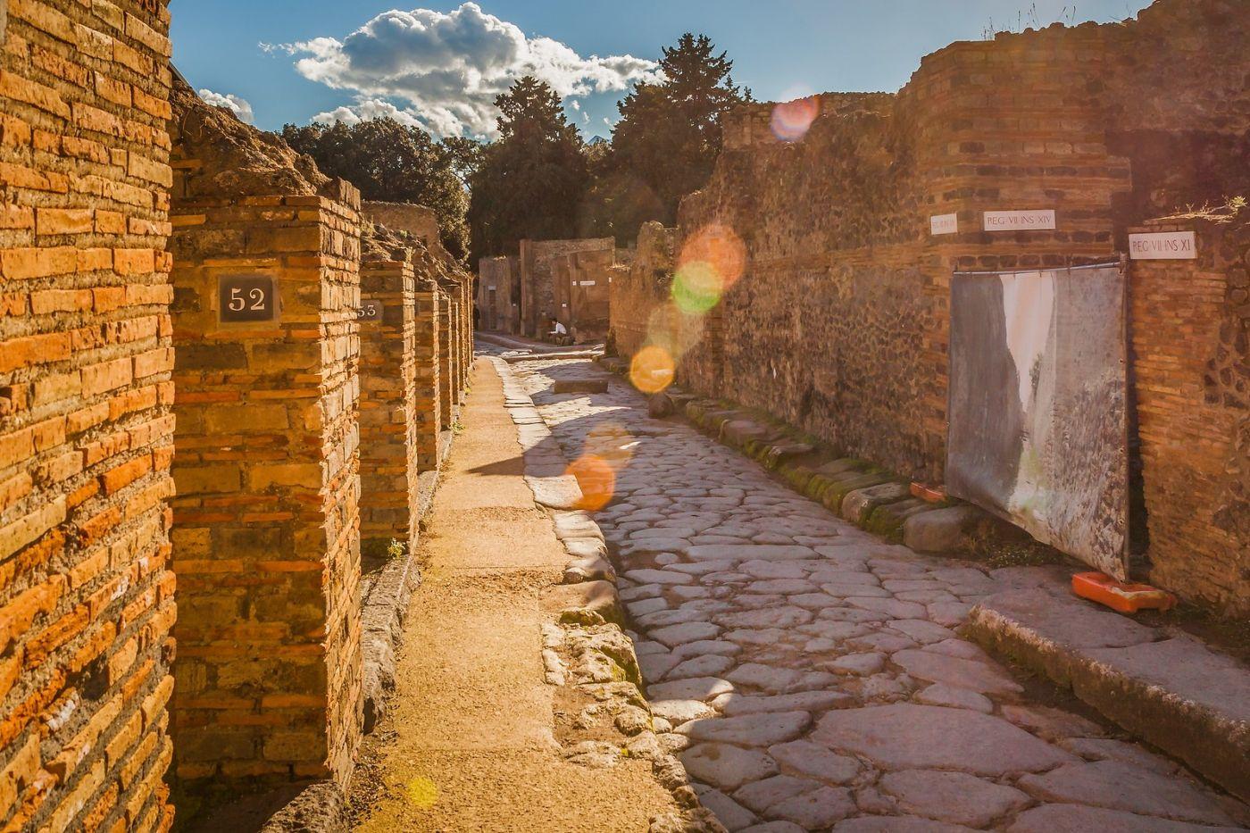 意大利一世纪古城庞贝,那时城市道路_图1-37