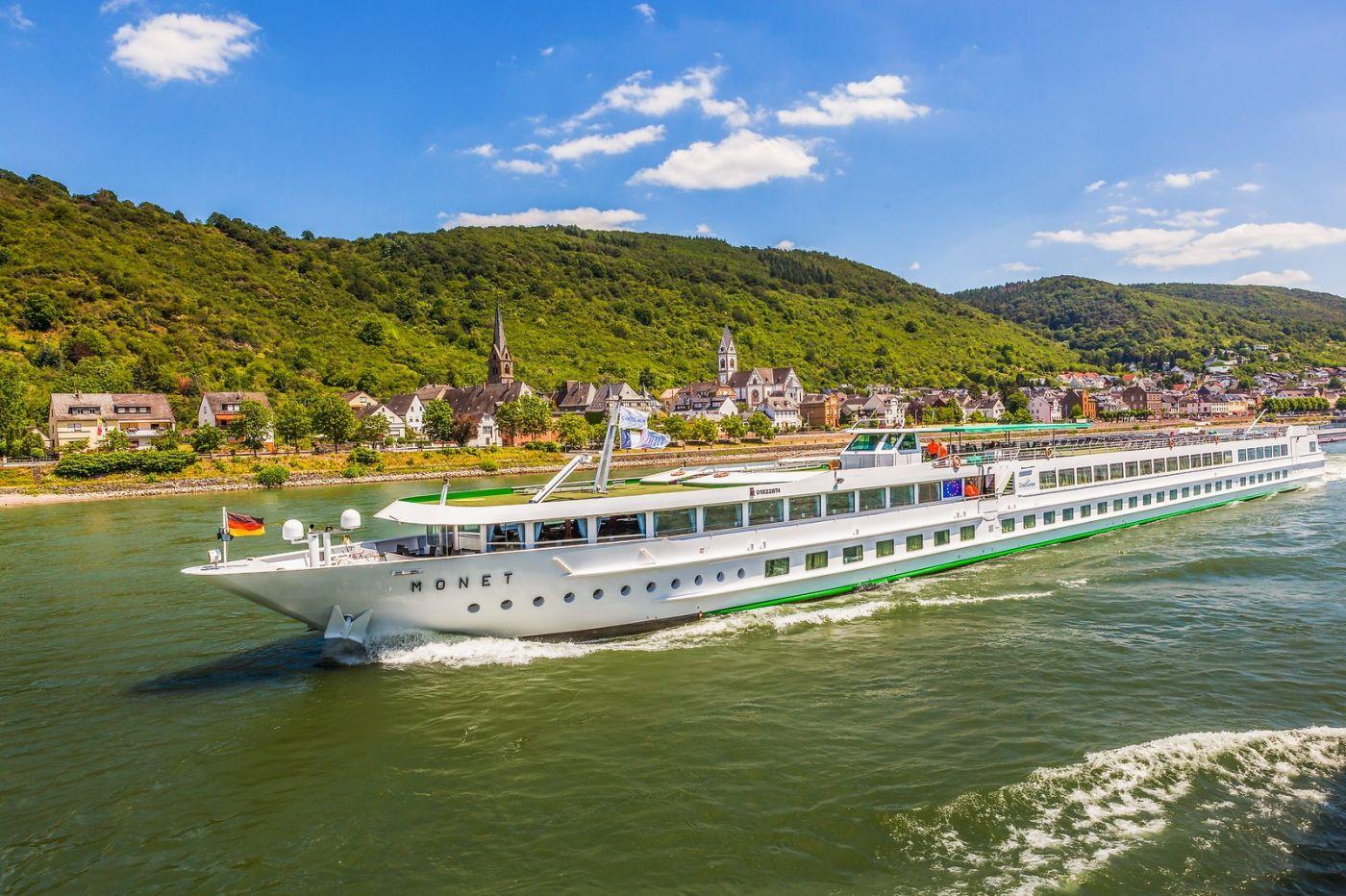 畅游莱茵河,游船商船另一道景_图1-38