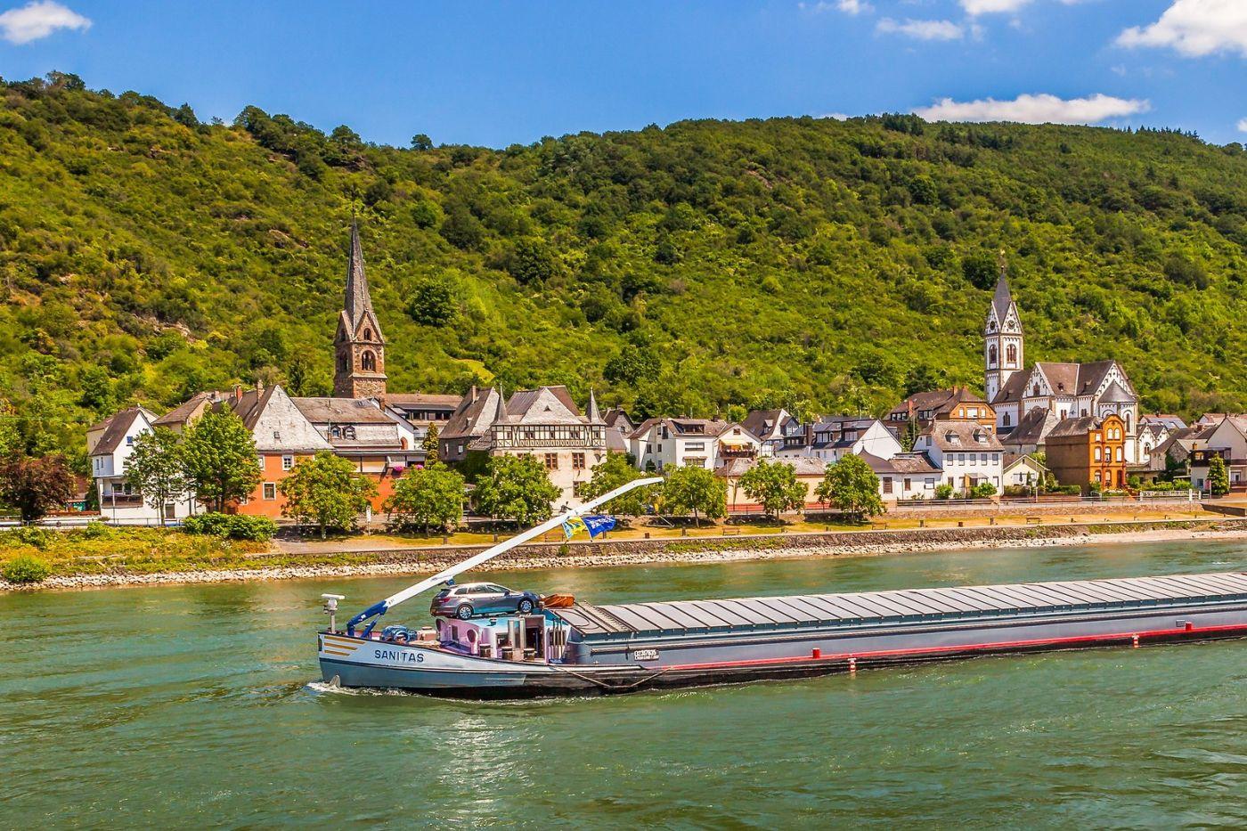 畅游莱茵河,游船商船另一道景_图1-20