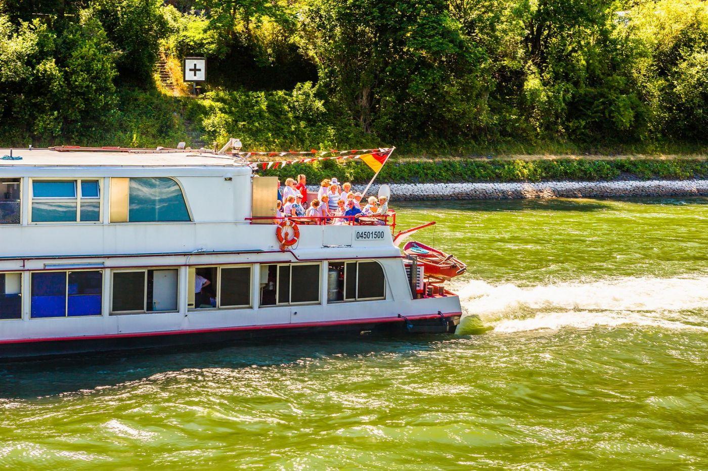 畅游莱茵河,游船商船另一道景_图1-22