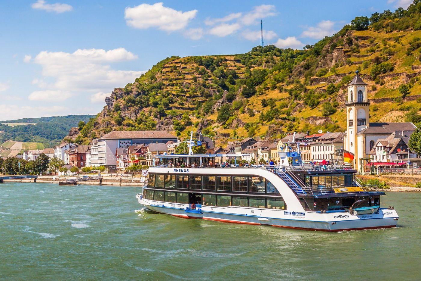 畅游莱茵河,游船商船另一道景_图1-24