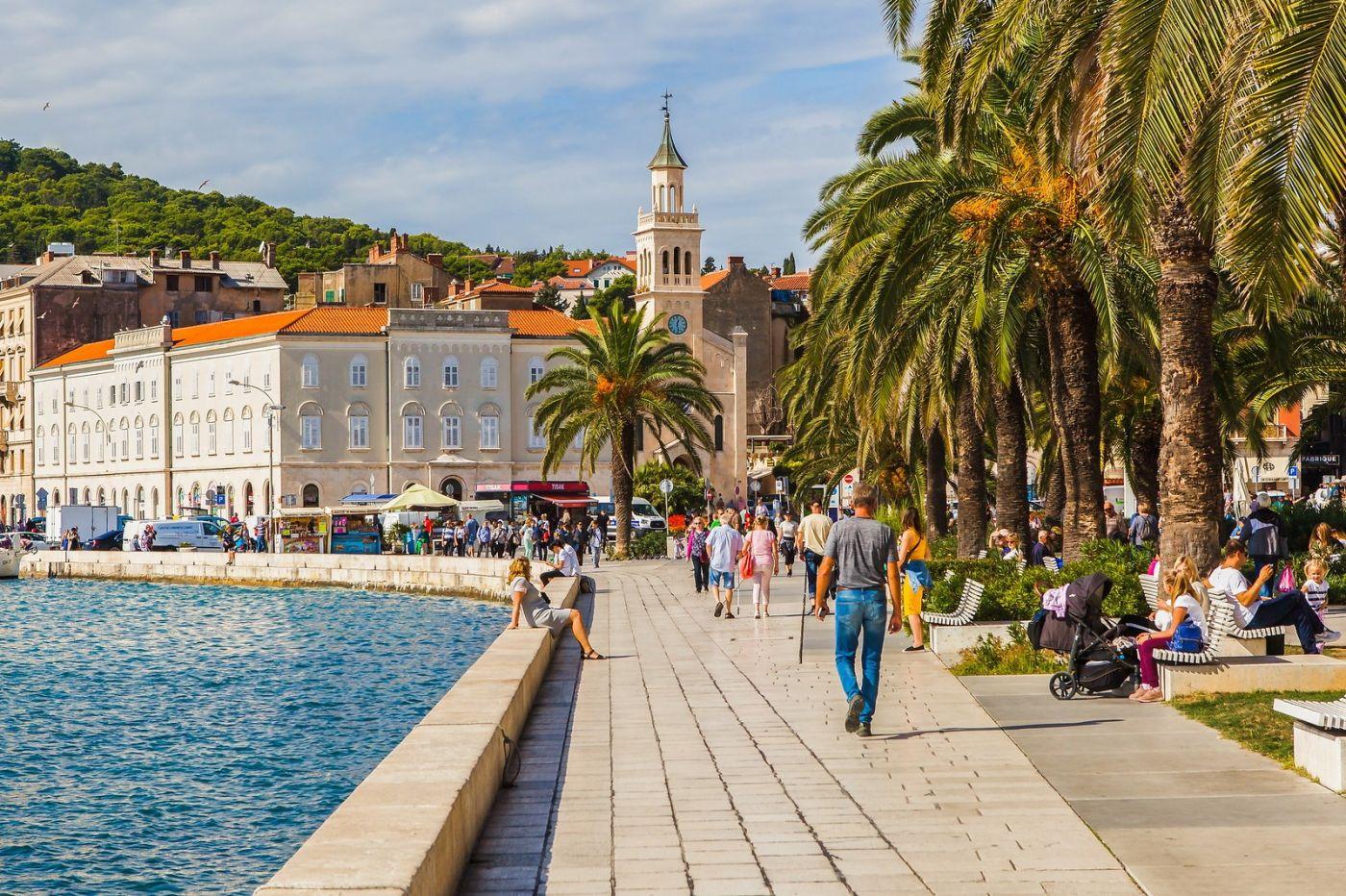 克罗地亚斯普利特(Split),美丽海滨城市_图1-1