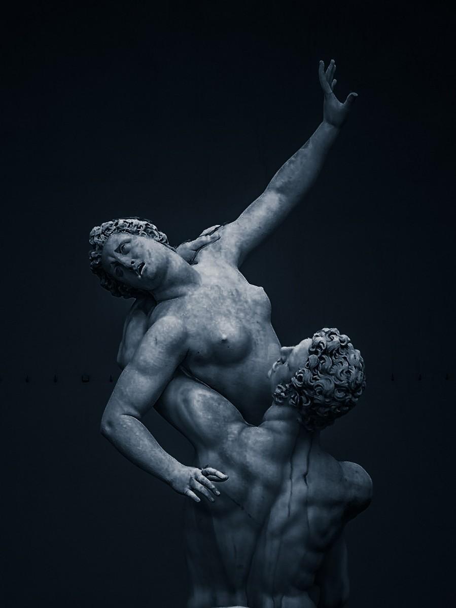 意大利佛罗伦萨,西格诺里亚广场的雕像_图1-14