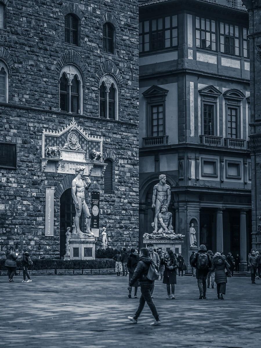 意大利佛罗伦萨,西格诺里亚广场的雕像_图1-8