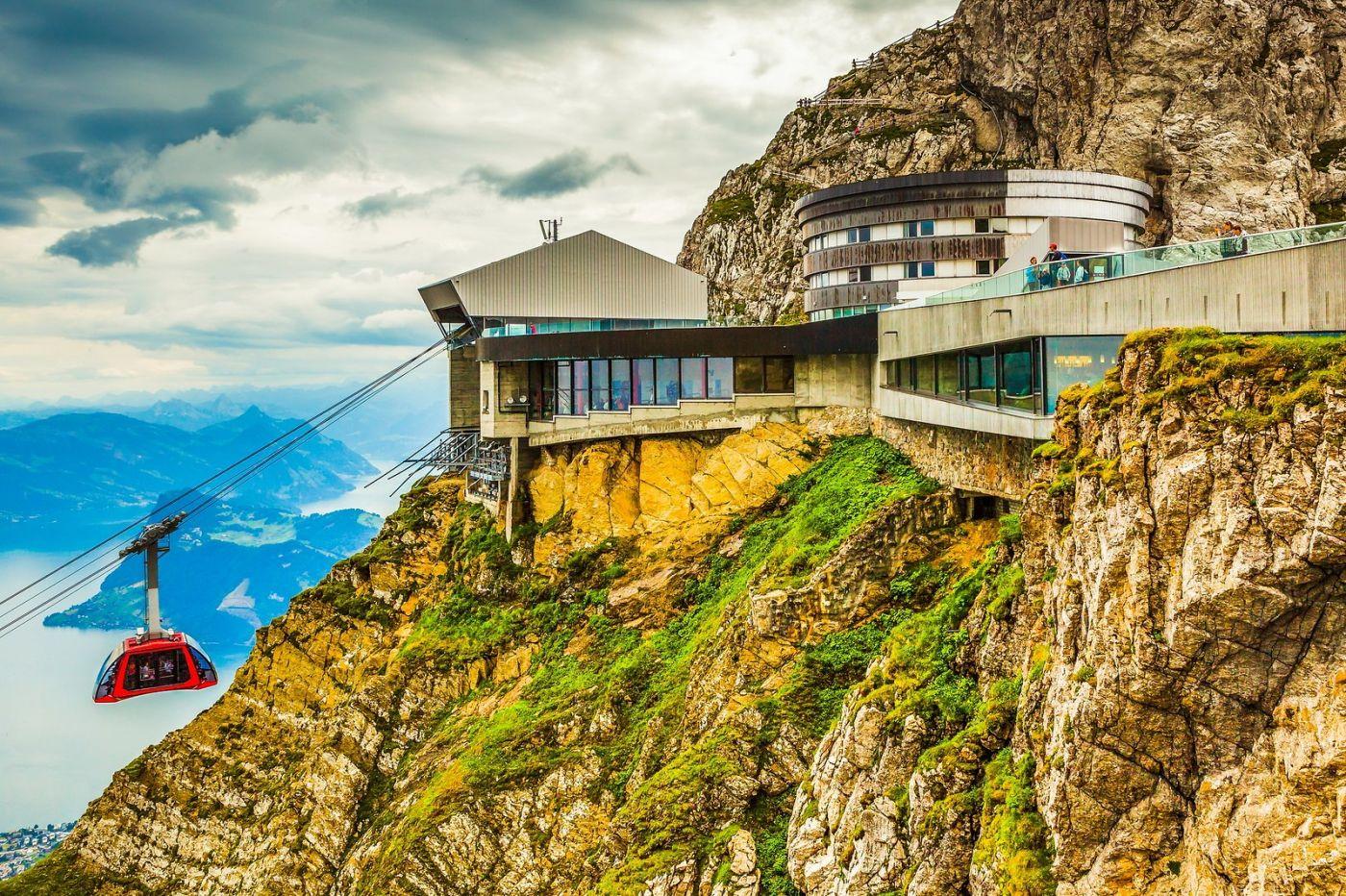瑞士卢塞恩(Lucerne),坐缆车看风景_图1-29