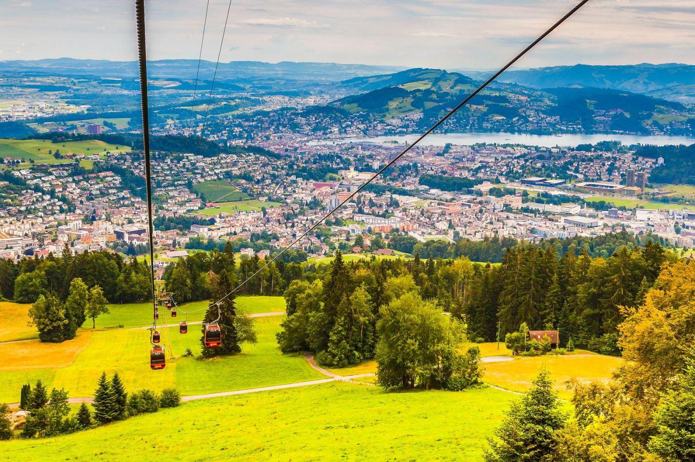 瑞士卢塞恩(Lucerne),坐缆车看风景_图1-32