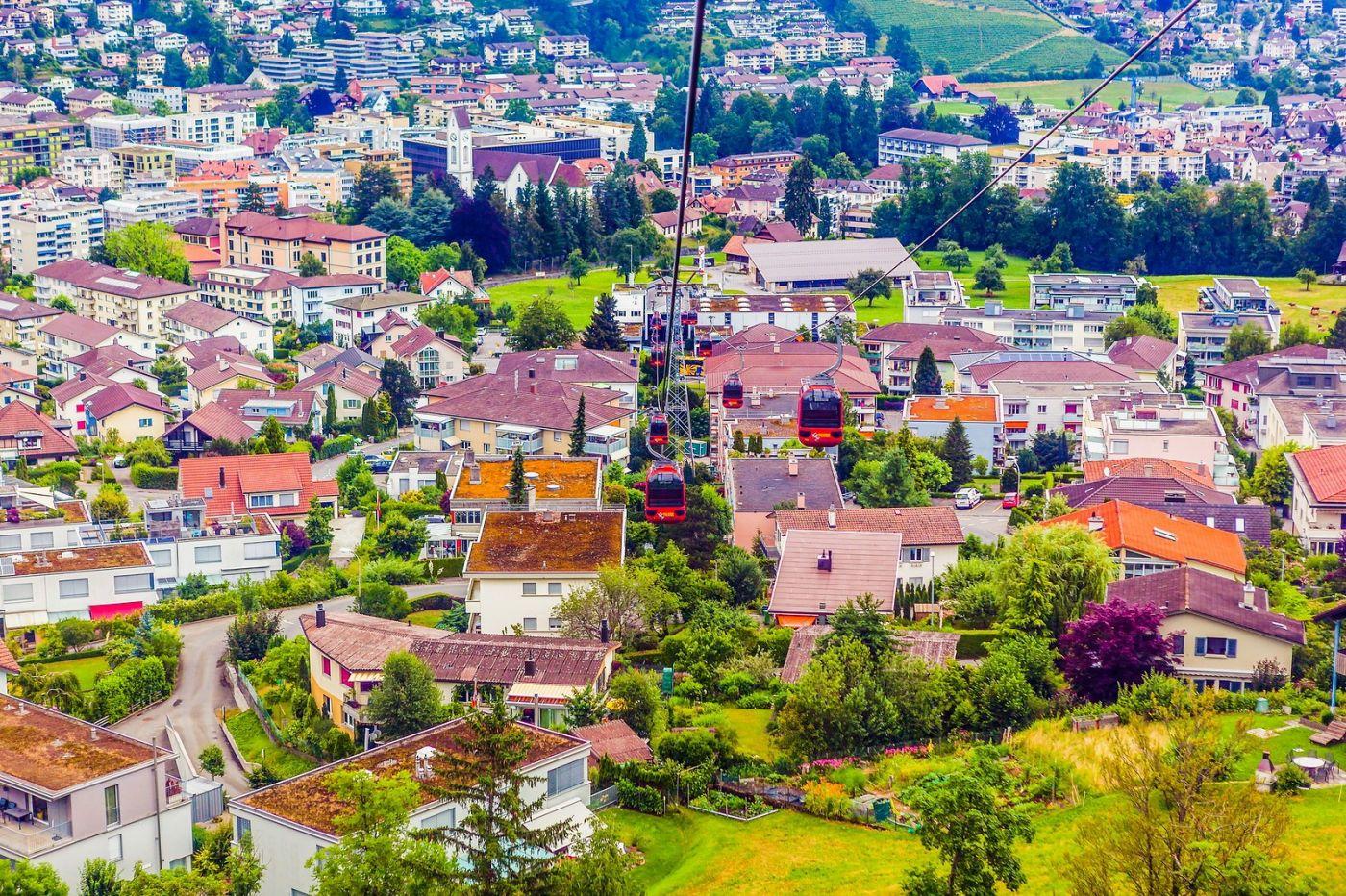 瑞士卢塞恩(Lucerne),坐缆车看风景_图1-31