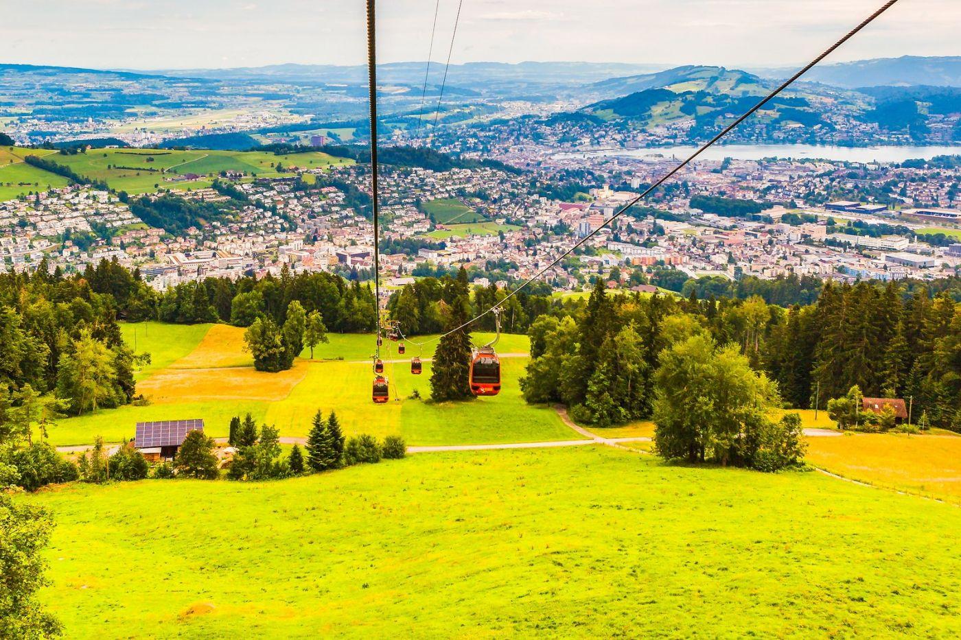 瑞士卢塞恩(Lucerne),坐缆车看风景_图1-27