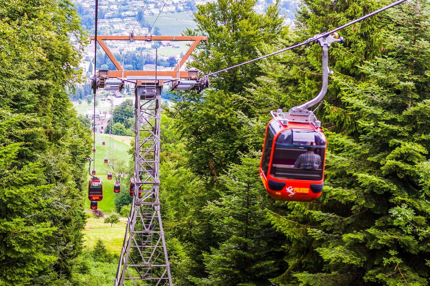 瑞士卢塞恩(Lucerne),坐缆车看风景_图1-21